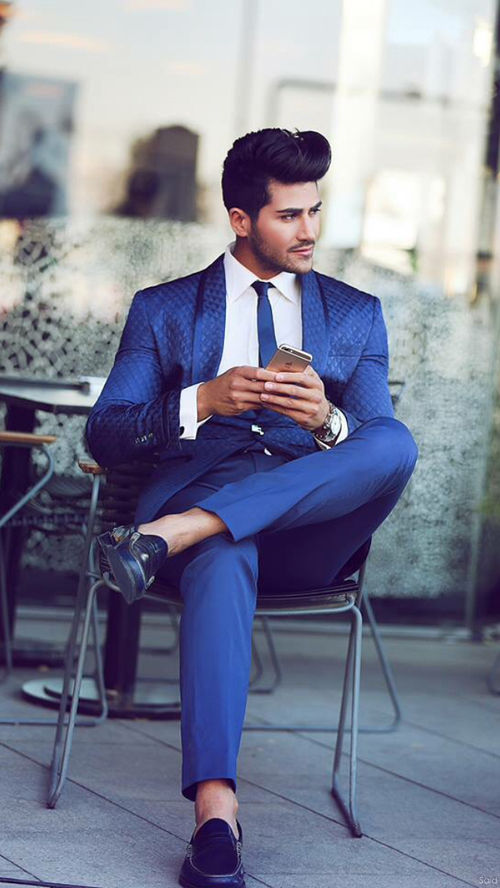Navy Blue Slim Suit Pictures, Photos, and Images for Facebook