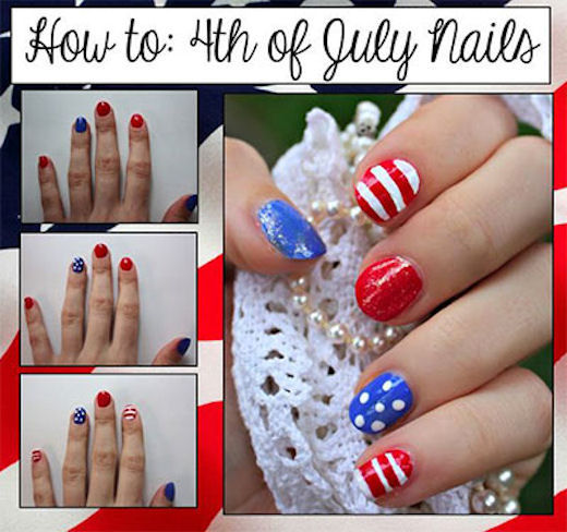 July 4th Nail Art Tutorial Pictures Photos And Images For Facebook