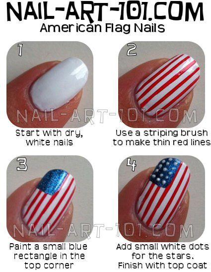 American flag nail art designs tutorial sticker british philippine.