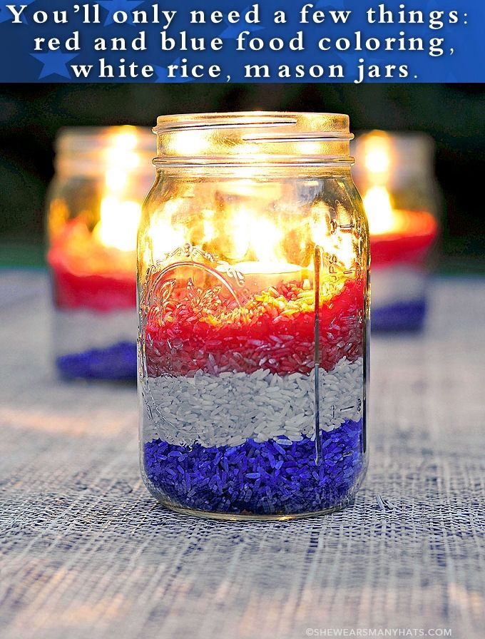 Easy Diy Red White And Blue Party Decorations Pictures