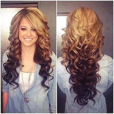 Reverse Curly Ombre Long Hair Pictures Photos And Images