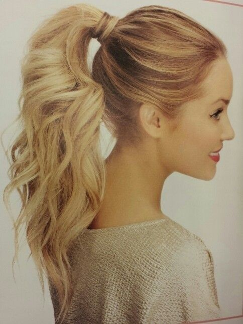 Image result for high ponytail