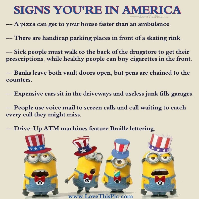 Funny Joke Quote: Signs You're In America Pictures, Photos, And Images For