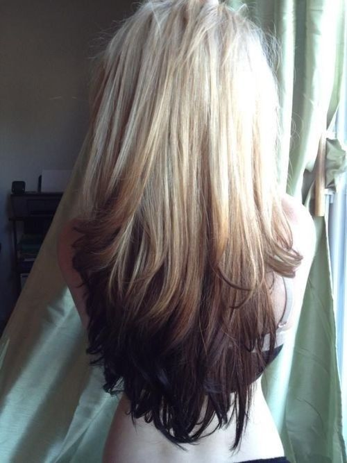 Blonde To Dark Brown Ombre Pictures Photos And Images For Facebook