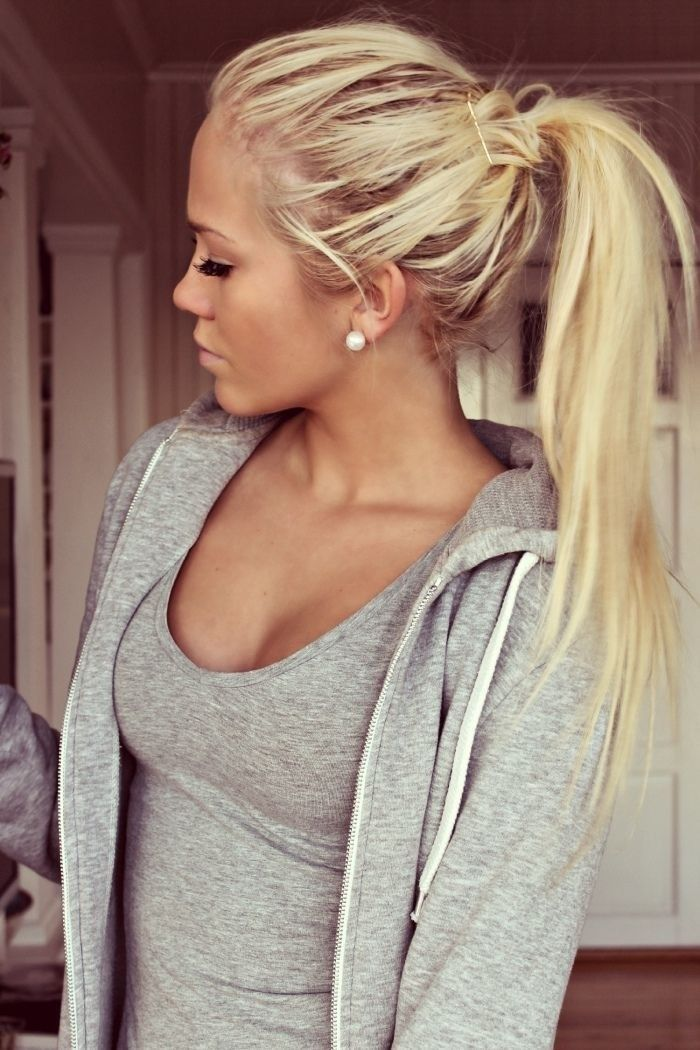 Excellent Blonde Ponytail Long Hair Pictures Photos And Images For Hairstyles For Women Draintrainus