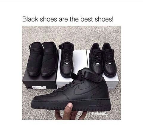 best all black shoes