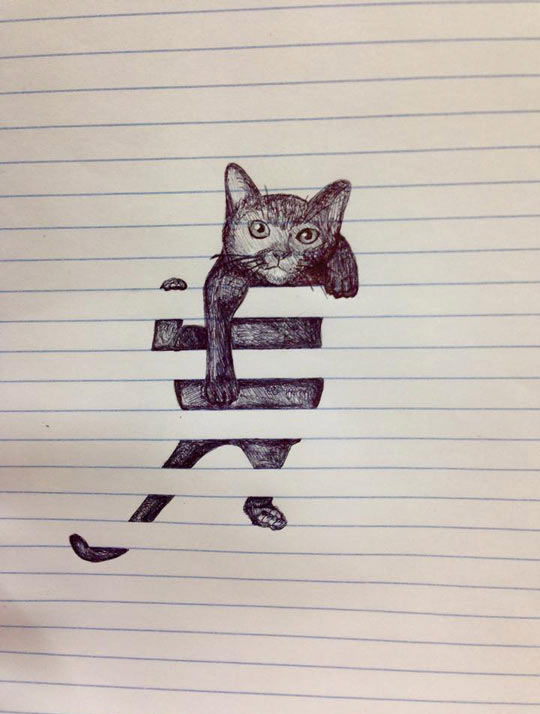 Creative Cute Cat Doodle Drawing Pictures Photos And Images For