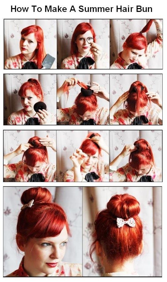 How To Make A Summer Hair Bun Pictures Photos And Images For