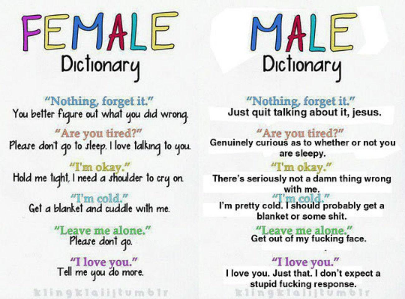 I need a female