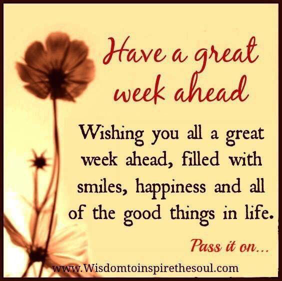 Image result for happy week ahead