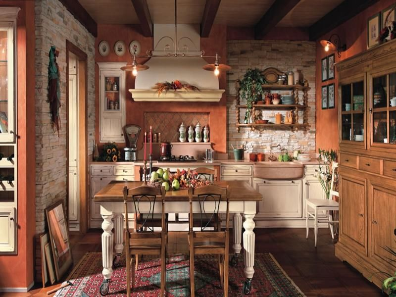 Pretty Country Kitchens