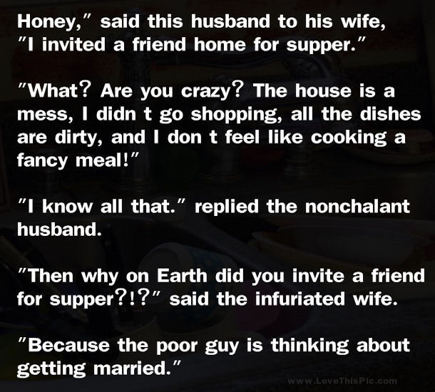 Funny Quotes Quotes And Jokes On Pinterest: Funny Marriage Joke... Pictures, Photos, And Images For