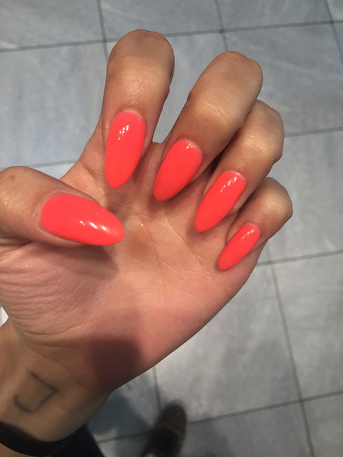 Hot Orange Gel Nails Pictures, Photos, and Images for Facebook, Tumblr