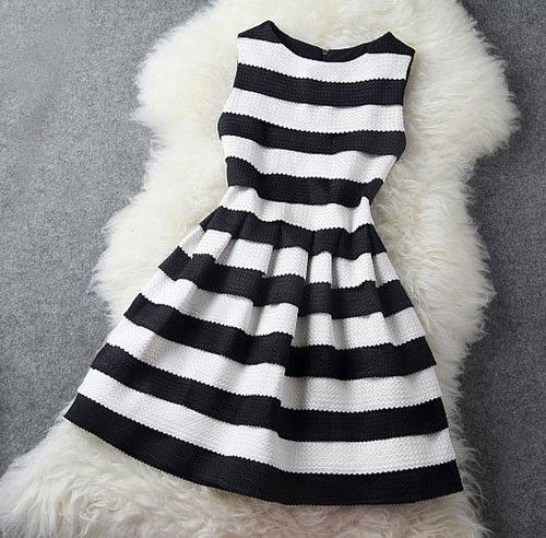 Black And White Stripe Dress Pictures- Photos- and Images for ...