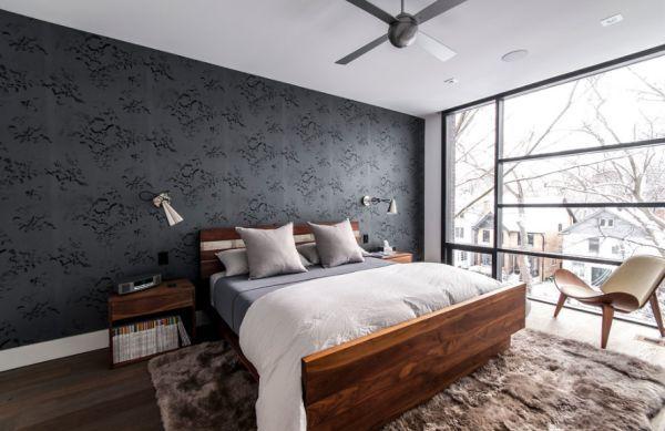 minimalist bedroom with styalish wall mounted sconces
