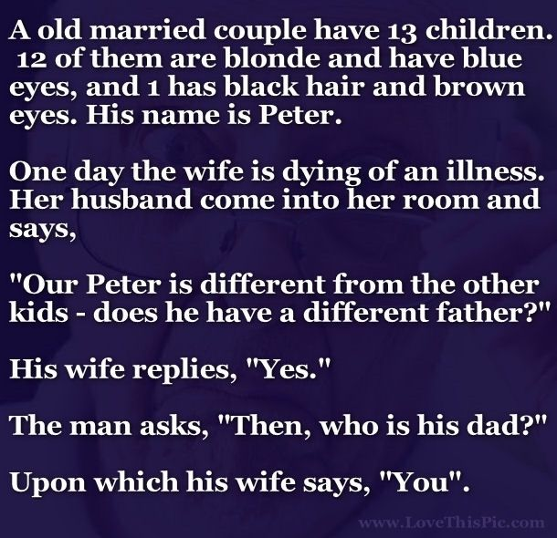 A Man Asks His Wife A Question About Their Son But Is