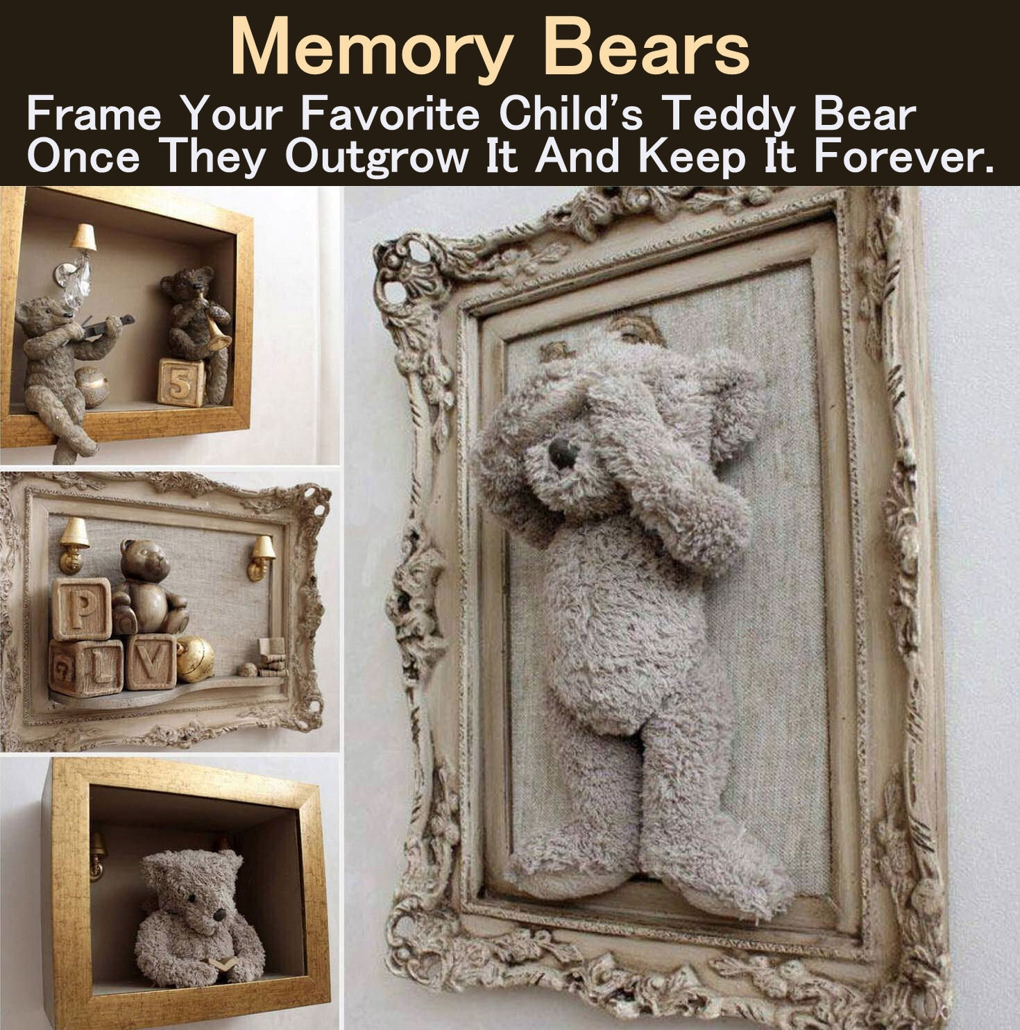 Memory Bears Frame Your Childs Favorite Bear And Keep It Forever