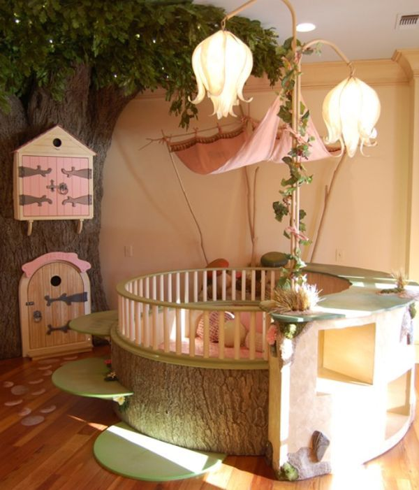 baby themed rooms. baby nursery with round crib and fairy tale room theme themed rooms