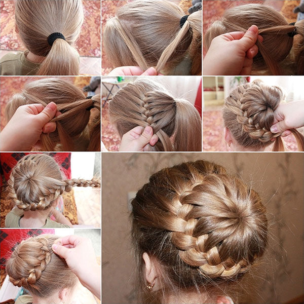 e0dd20e0e 3-double Dutch Braids And Bun Hair Tutorial Pictures, Photos, and ...