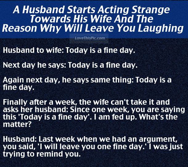 Husband Starts Acting Strange Towards Wife When She Asks