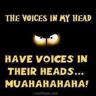 Image result for images of voices in my head