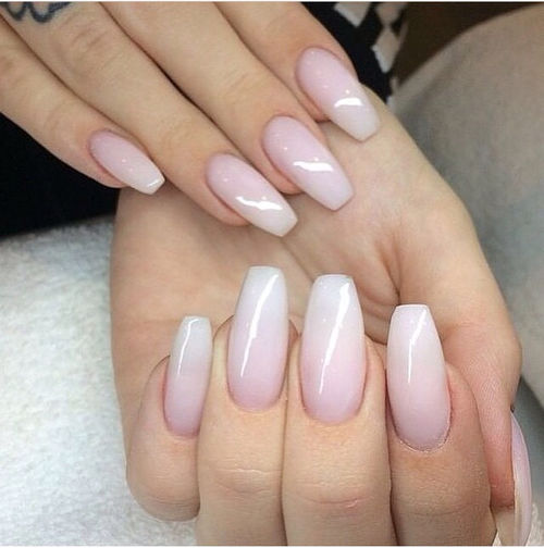 White And Pink Ombre Nails Pictures Photos And Images
