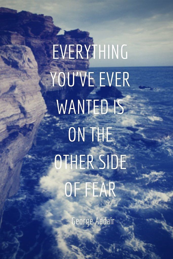 Image result for everything you ever want is on the other side of fear