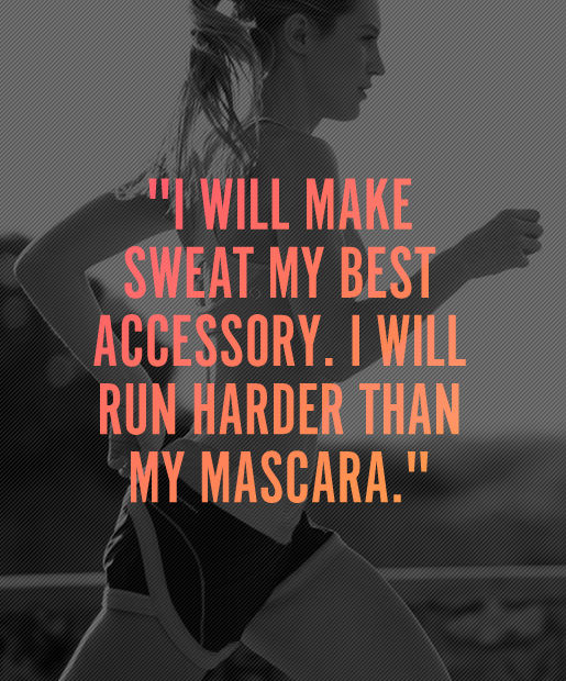 Inspirational Fitness Quotes: I Will Run Harder Than My Mascara Pictures, Photos, And