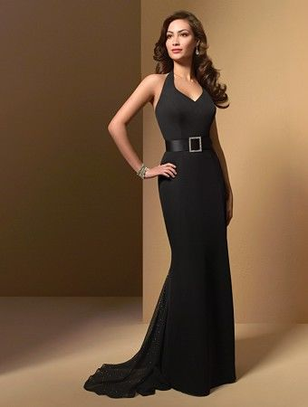 black evening dress with belt pictures photos and images