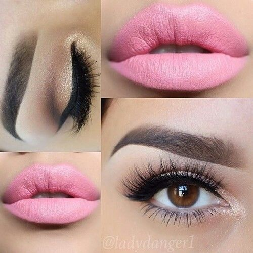 Perfect Pink Lips Amp Eye Makeup Pictures Photos And