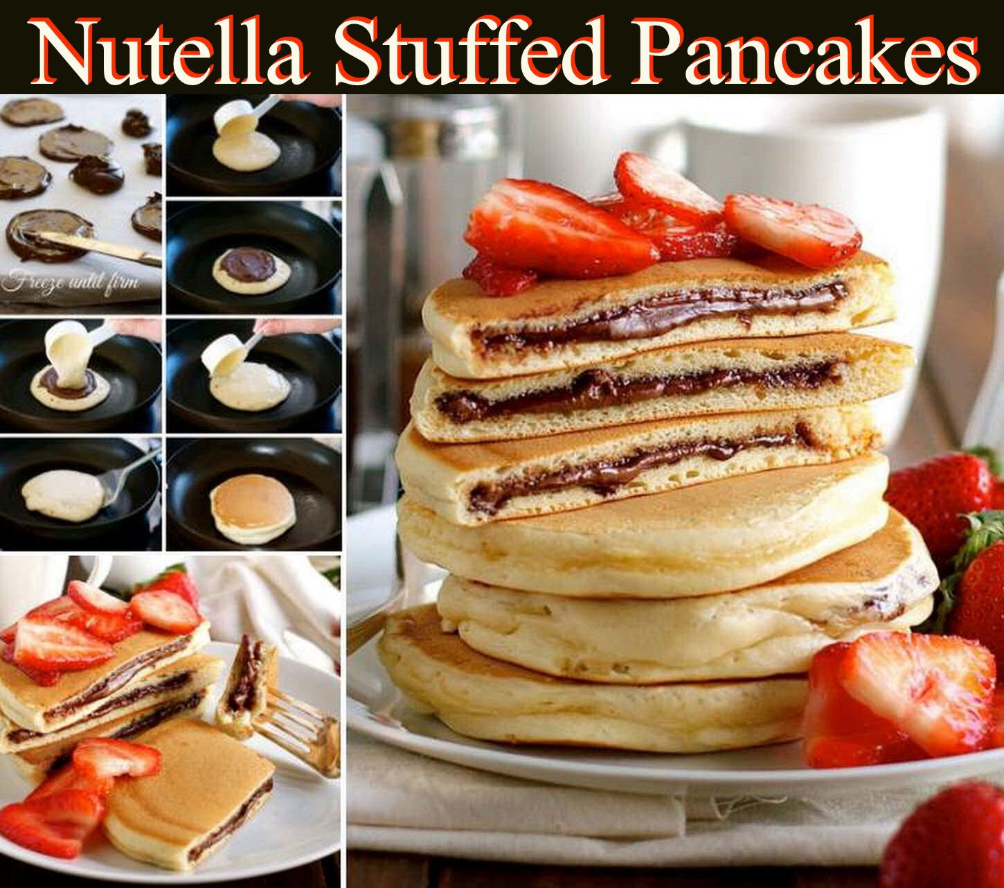 ideas wedding pictures outdoors - Nutella Stuffed Pancakes Recipe s and
