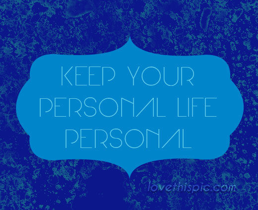 keep personal