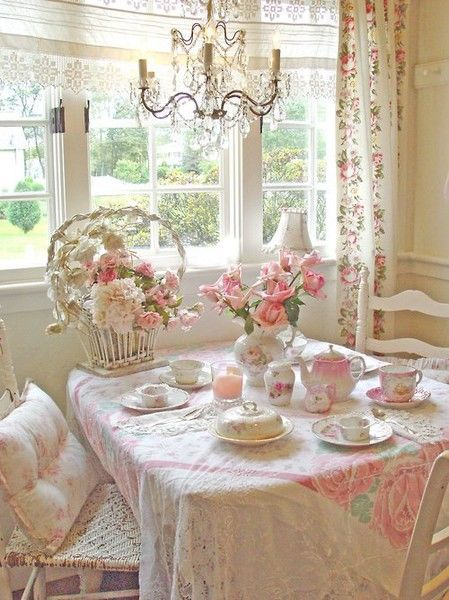 pretty pink shabby chic dining area pictures  photos  and