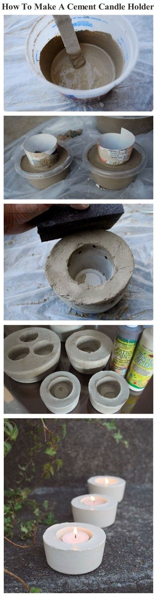 How To Make A Cement Candle Holder Pictures, Photos, and ...