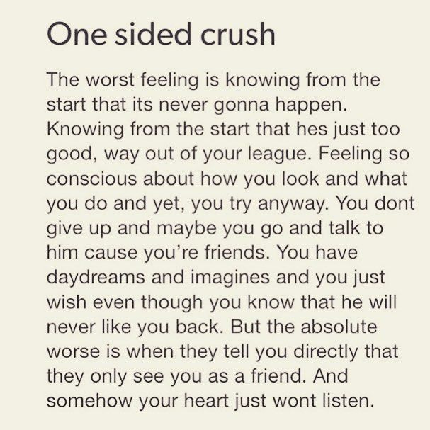 Funny Quotes On One Sided Love : One Sided Crush Pictures, Photos, and Images for Facebook, Tumblr ...
