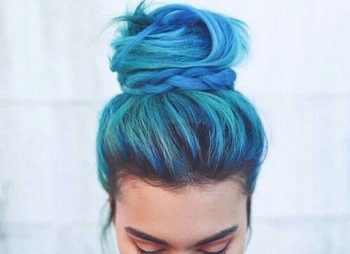 Hair Styles Tumblr: Blue Top Knot Pictures, Photos, And Images For Facebook
