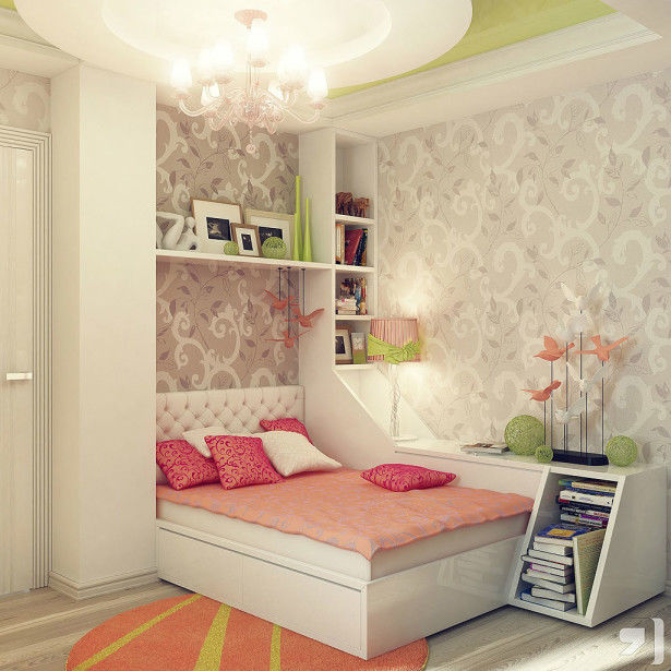 Decorating Small Teenage Girl's Bedroom Ideas Pictures ... on Small Bedroom Ideas For Teenage Girl  id=41069