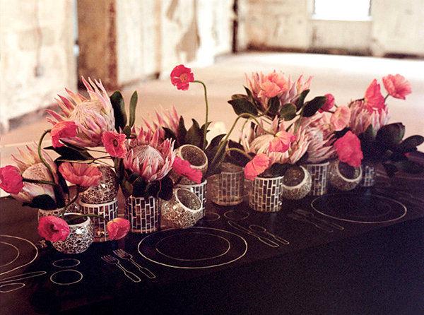 Do It Yourself Wedding Flowers Centerpieces : Votives and flower wedding centerpiece pictures photos