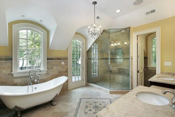 Luxury master bathroom floor plans ideas pictures photos Large master bath plans