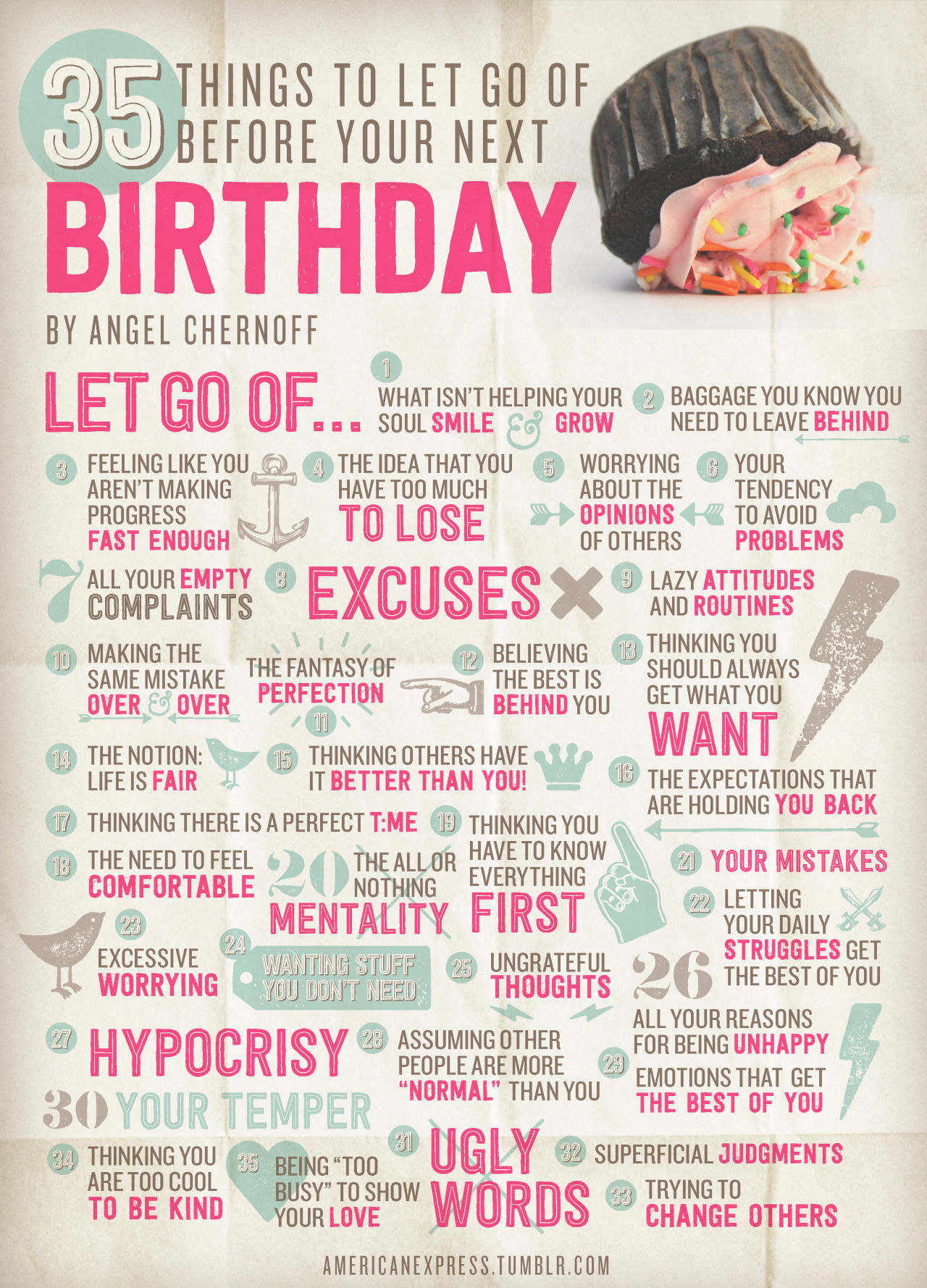 35 things to let go of before your next birthday pictures photos