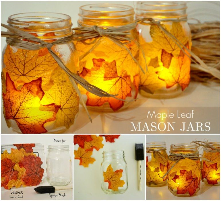 Maple Leaf Mason Jars Pictures Photos And Images For