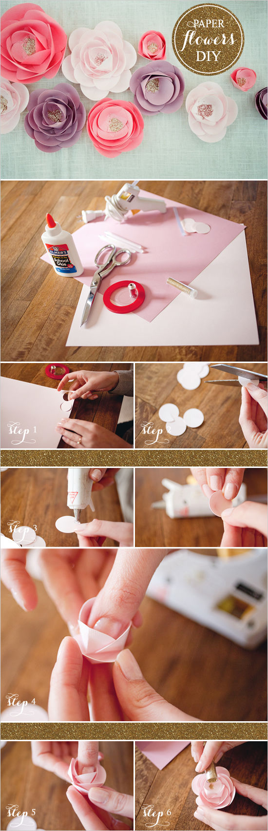 Diy paper flower tutorial pictures photos and images for for Flower making at home