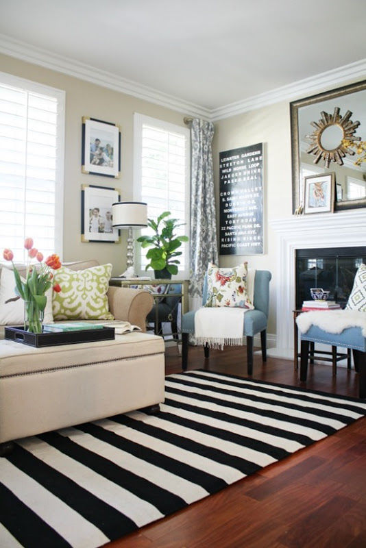 Black And White Striped Rug Pictures Photos And Images