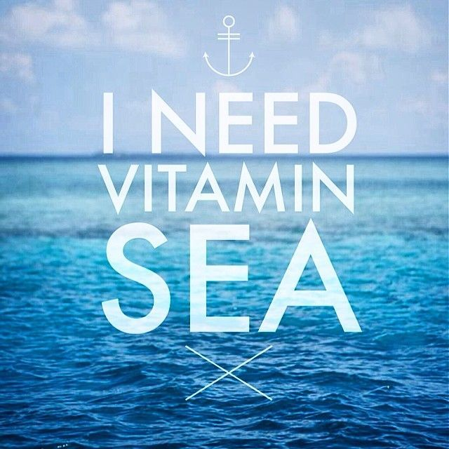 Instagram Beach Quotes: I Need Vitamin Sea Pictures, Photos, And Images For