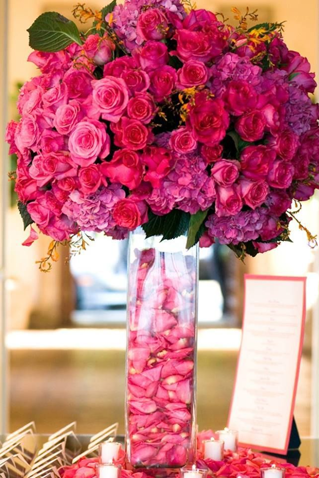 Dark Pink Wedding Centerpiece Pictures, Photos, and Images ...