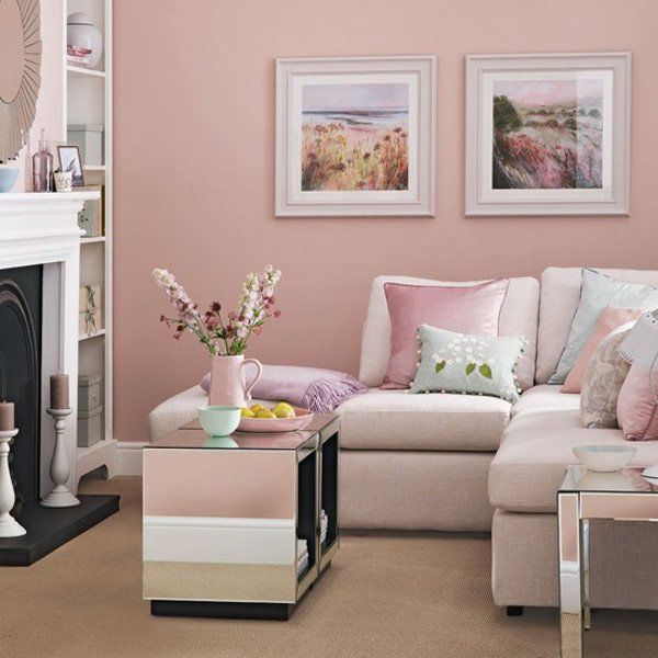 Soft Pink Living Room Pictures, Photos, And Images For