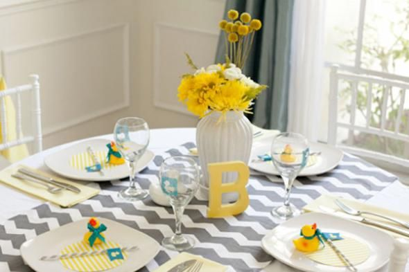 centerpiece for a ducky themed baby shower pictures photos and