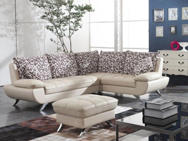 modern small leather sectional sofa for living room
