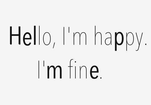 I'm fine by Zapekanka on DeviantArt  |Im Fine Tumblr Girl