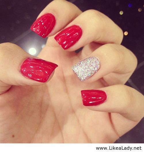 Sparkly Red Nails Pictures Photos And Images For